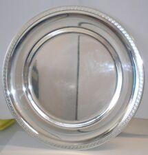 Vassoio piatto da servizio centrotavola sottopiatto 28 cm col. argento