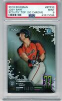 "2019 Bowman Scouts' Top 100 #BTP33 Chrome ""Joey Bart"" RC @@LOOK@@ PSA 9  On Fire"