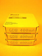 Cooper Bussmann  GDB 400MA  Miniature Fuse 5pk F/250V Lot of 3