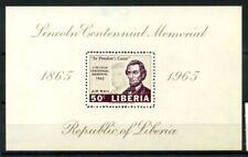 Liberia 1965 Mi. Bl.33 Foglietto 100% ** Abraham Lincoln. '' In causa della lib