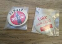 "Coca Cola ""Coke Adds Life To Slurpee"" Metal Collectible & Always Coca Cola Pin"
