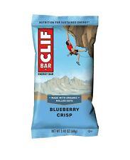 CLIF Bar Energy Bars, Blueberry Crisp, 9g Protein Bar, 12 Ct, 2.4 oz- 01/14/2021