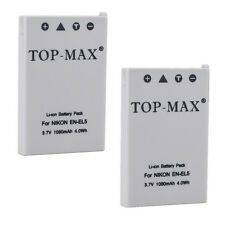 2X Battery For EN-EL5 ENEL5 P90 P100 P500 P510 P520 P5000 P5100 P6000