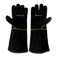 16''Welding Safety Gloves Gauntlet Heat Resistant Stove Fire Barbecue Gloves
