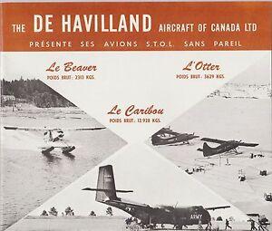 the de havilland aircraft of canada présente ses avions