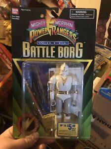 mighty morphin power rangers White Battle Borg