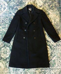 Anne Klein Wool & Cashmere Black Dress Coat Size 4 Small -FREE SHIP!