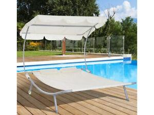 Outsunny Outdoor Double Day Bed Hammock Garden Furniture Sun Lounger