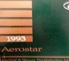 1993 Ford Aerostar Elektrisch Wiring Diagrams Service Shop Reparatur Manuell Ewd