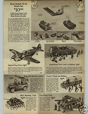 1966 PAPER AD Toy Army Tank Cap Firing Shooting Jeep Convoy Amphibious Duck