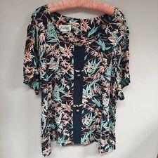 Hapua Hawaii Womens 100% Rayon Scoop Neck Short Sleeve Hawaiian Top Size 3XL