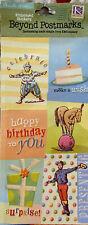 K & Co Beyond Postmarks Embossed Stickers Brenda Walton Birthday
