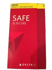 Delta Airlines MD 90 Safety Card 2015