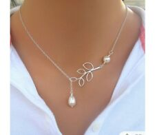sliver necklace with pearl