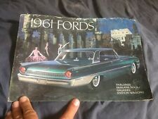 1961 Ford Galaxies 500 Sunliner Country Squire Color Brochure  Prospekt