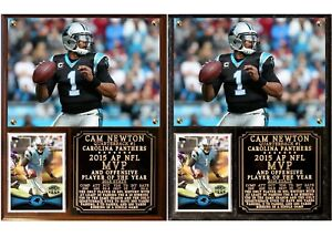 Cam Newton #1 2015 NFL MVP Photo Card Plaque