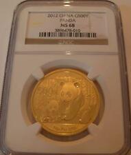 China 2012 Gold 1 oz Panda 500 Yuan NGC MS-68