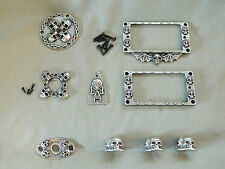 9 SKULL GUITAR PARTS FOR ESP LTD EC 100 256 50 KNOBS, RINGS, JACK COVER & MORE!