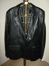 "Scully Blazer MENS 46-R #501 (NWT) Solid ""BLACK"" Super Soft Leather"