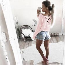 Camisa Blusa Para Mujer Suelta Informal Mangas Largas Camiseta
