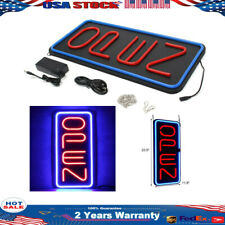 "Bright 23.6""X11.8"" Big Vertical Led Light Open Neon Business Sign 60x30cm 30W"