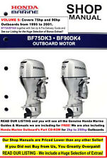 *SALE HONDA OUTBOARD Service/Shop Manual Vol. 5: 75hp-90hp 1995-2001 FREE Extras