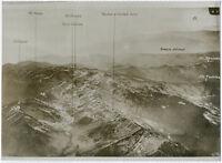 Gr. Orig-Pressephoto, 1. Weltkrieg Fliegeraufnahme italien. Kampfgebiet um 1917