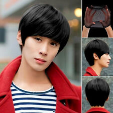 Anime Handsome Boys Short Wig Vogue Sexy Men's Male Hair Cosplay Wigs & Cap Pop.