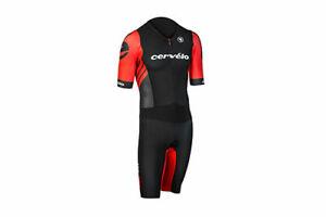 Cervelo Drag 2 Zero Tri Skin Suit Men's XX-Large XXL Blk/Rd Triathlon Endura NEW
