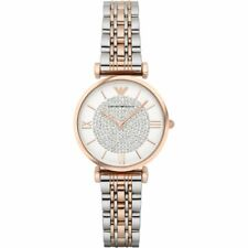 Ladies Emporio Armani AR1926 Two Tone Gianni T-bar Watch