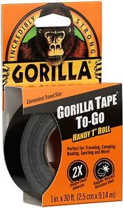 Gorilla 3044401 Tape Handy Roll, 1-Pack, Black