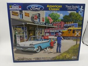 White Mountain Ford American Classic 1000 PC Puzzle Complete in box