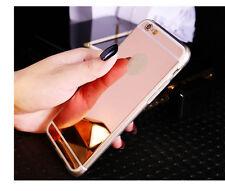 FUNDA PARA IPHONE 7 GEL TPU ORO ROSADO Rose Gold ESPEJO SILICONA CASE