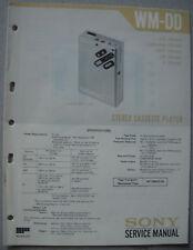 SONY WM-DD Service Manual