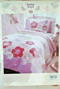 Children's Junior Toddler Flowers Cot Bed Duvet Cover Bedding Set ,120cm x150cm