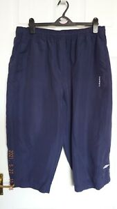 Umbro size L navy blue white cropped trousers crop pants