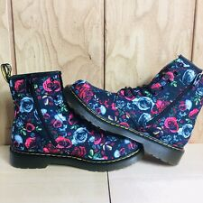 Dr Martens 1460 Pascal Rose Fantasy Leather Combat Boots Women's US 7 NEW