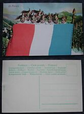 CARTOLINA PRIMA GUERRA MONDIALE WWI - FLAG -BANDIERE FRANCIA FRANCE