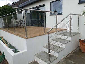 Balustrade, Handrail, Garden Balustrade, Decking Balustrade, Brushed Steel