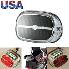 Chrome/Smoke LED Tail Brake Light For Harley Davidson Road King Custom FLHRS
