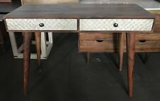 Atkin And Thyme - Phoenix Console Table, Desk, Deco, Mango Wood, Metal, Lounge