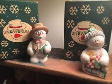 Sarahs Attic Snowonders Christmas Ornaments Grandma and Poppy