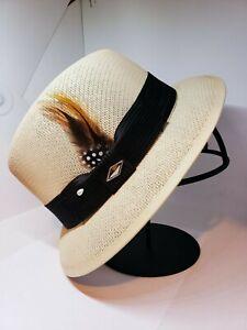 Mens Classic tan lowrider center crease  hat fedora Derby