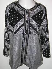 ULLA POPKEN Marvelous Mixture Tweed Jacket Black Ladies XL 12 14