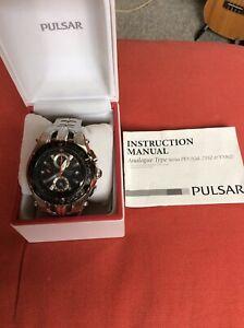 pulsar mens chronograph watch