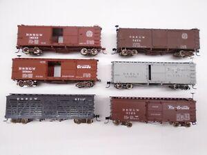 Rail Line HOn3 Freight cars(6), D&RGW, lot A