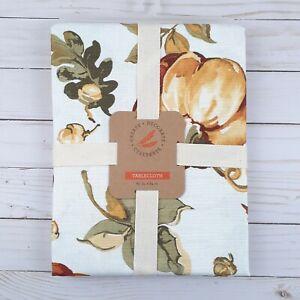 Fabric Tablecloth Fall Pumpkins Acorns 60x84