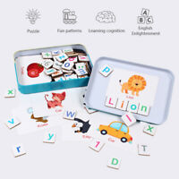 Magnetic Alphabet Letter Learning Cards Set Word Spelling Practice Game Toy Gift