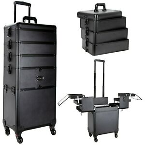 Professional Artist Cosmetic Rolling Train Makeup Case w/ Trays by Ver Beauty