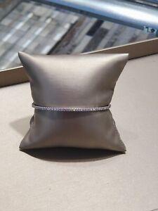 Tiffany& Co Metro Hinged Bangle 18k white gold large size 0.73ctw